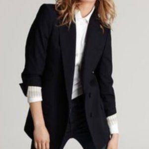 Theory Lyzbeth Greenpoint Wool Blend Navy Blazer 2